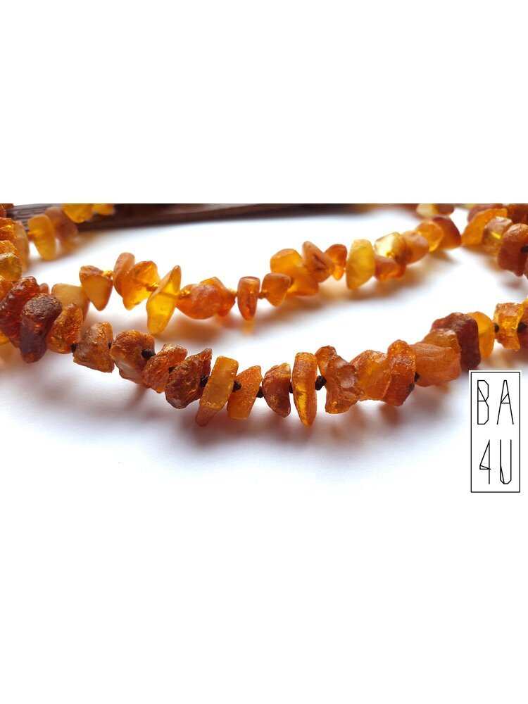 LC series: Baltic Amber collars with leather fixings