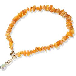 SC collars: Amber Collars with Swarovski crystals