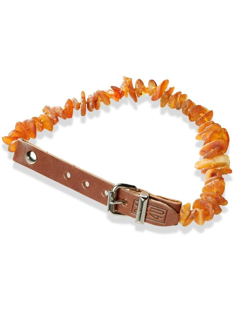 30-35cm  Baltic Amber Collar with Leather LC30