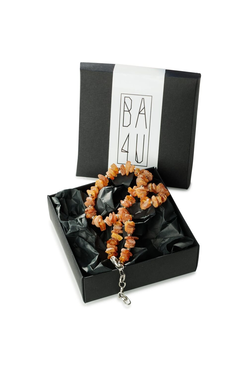 CC series:  Amber collar with decorative chain